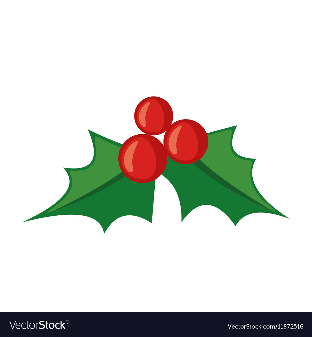 christmas mistletoe icon in flat style royalty free vector rh vectorstock com mistletoe vector black and white mistletoe vector icon
