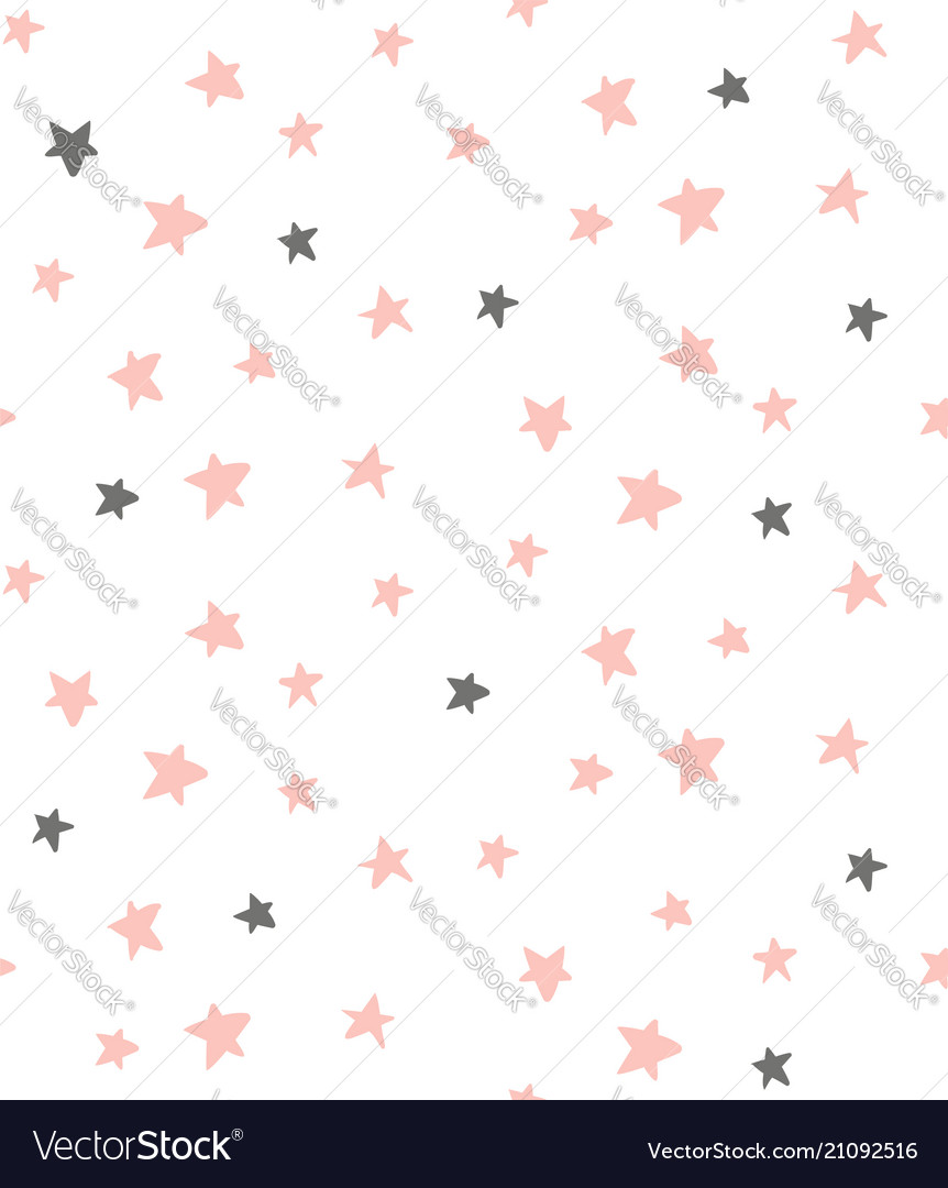Delicate stars pattern vector image