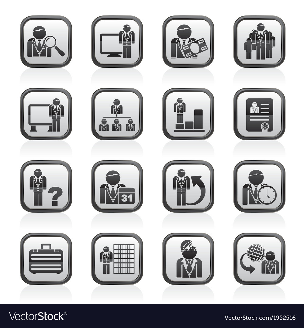 Management and hierarchy icons