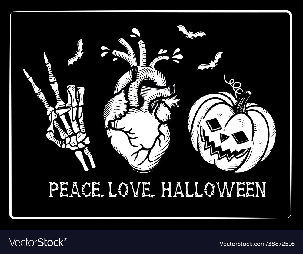 Peace love halloween
