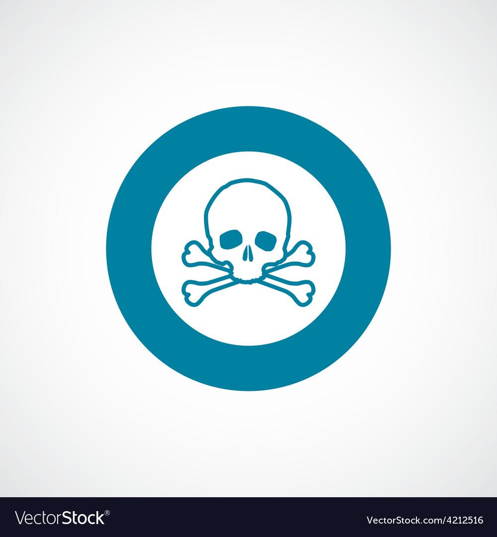 Skull icon bold blue circle border