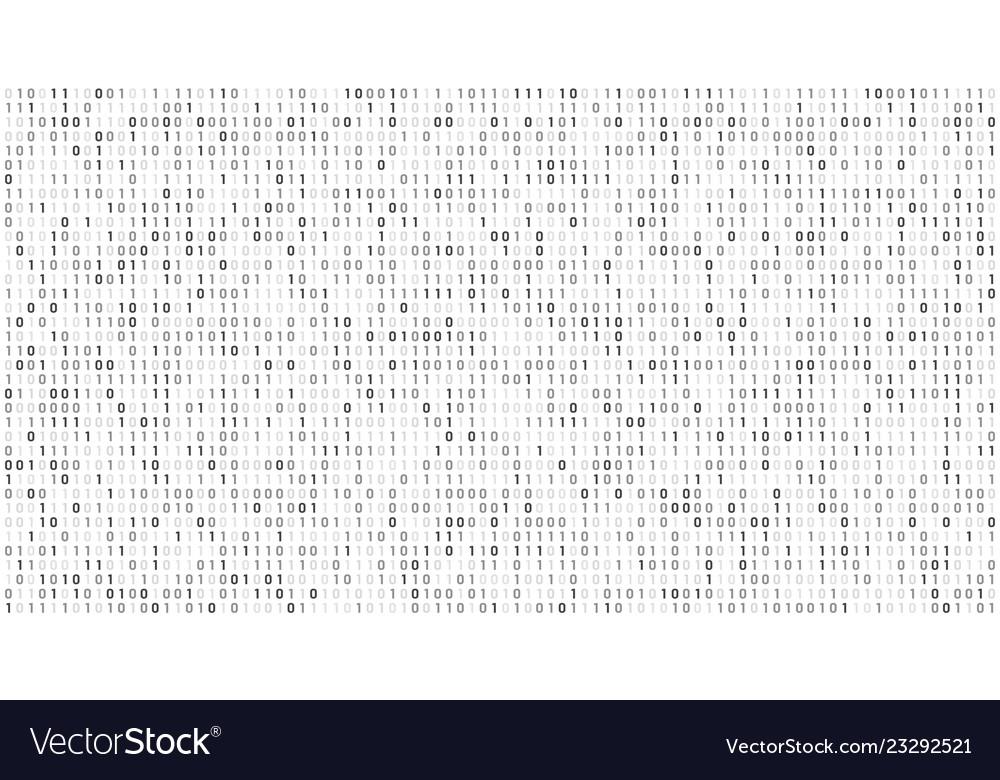 Binary matrix code computer data stream digital