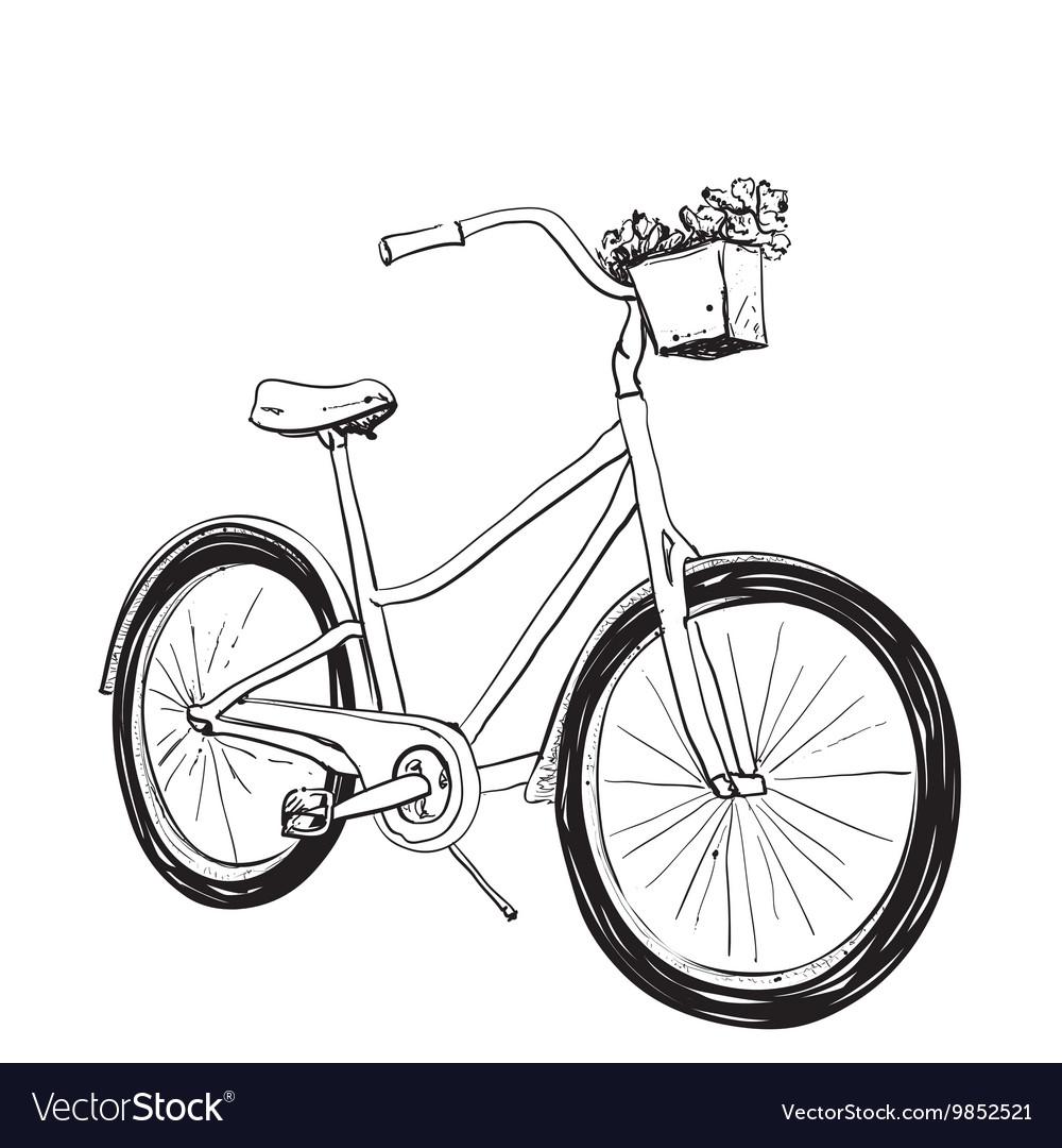 Cartoon of bicycle vector image