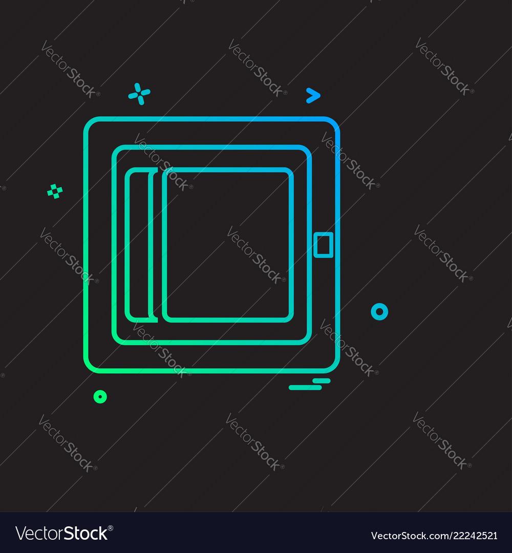Corporate office icon design