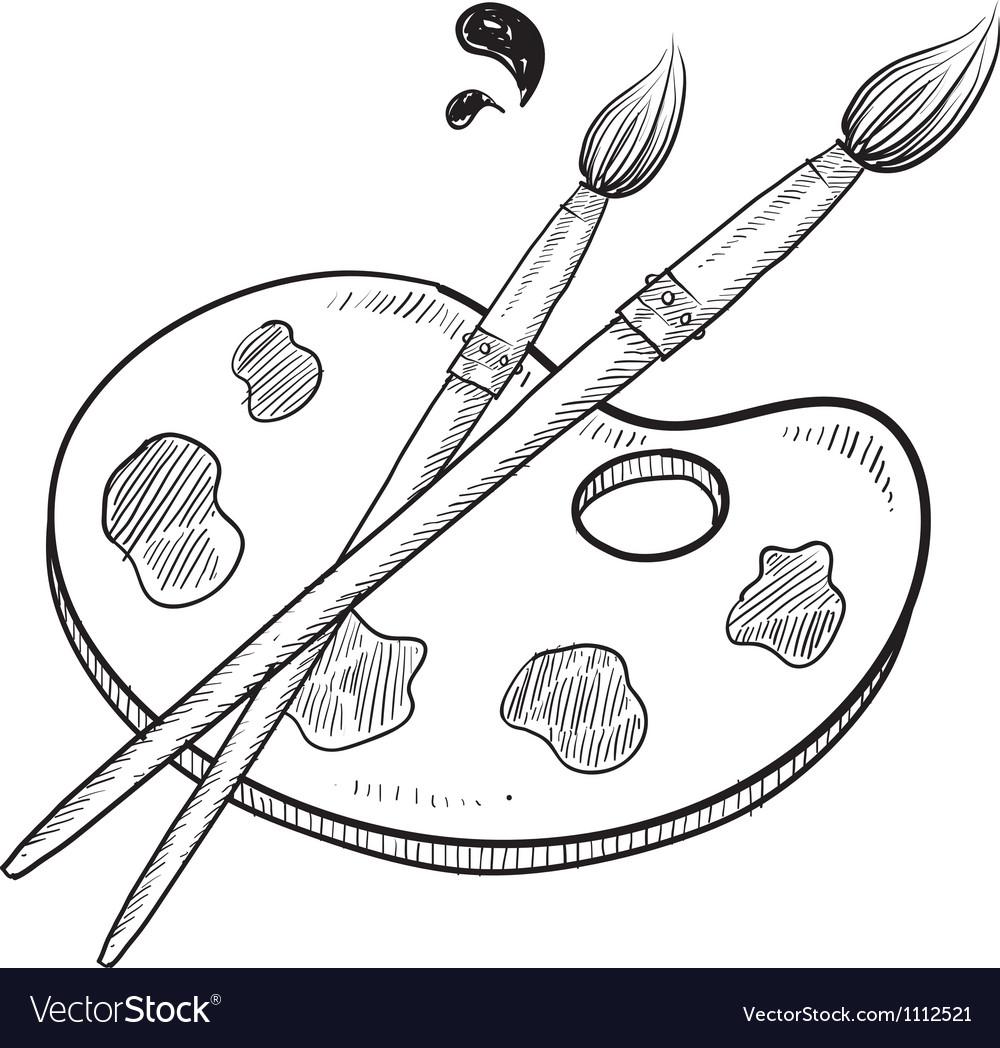 Doodle artist art paint brush