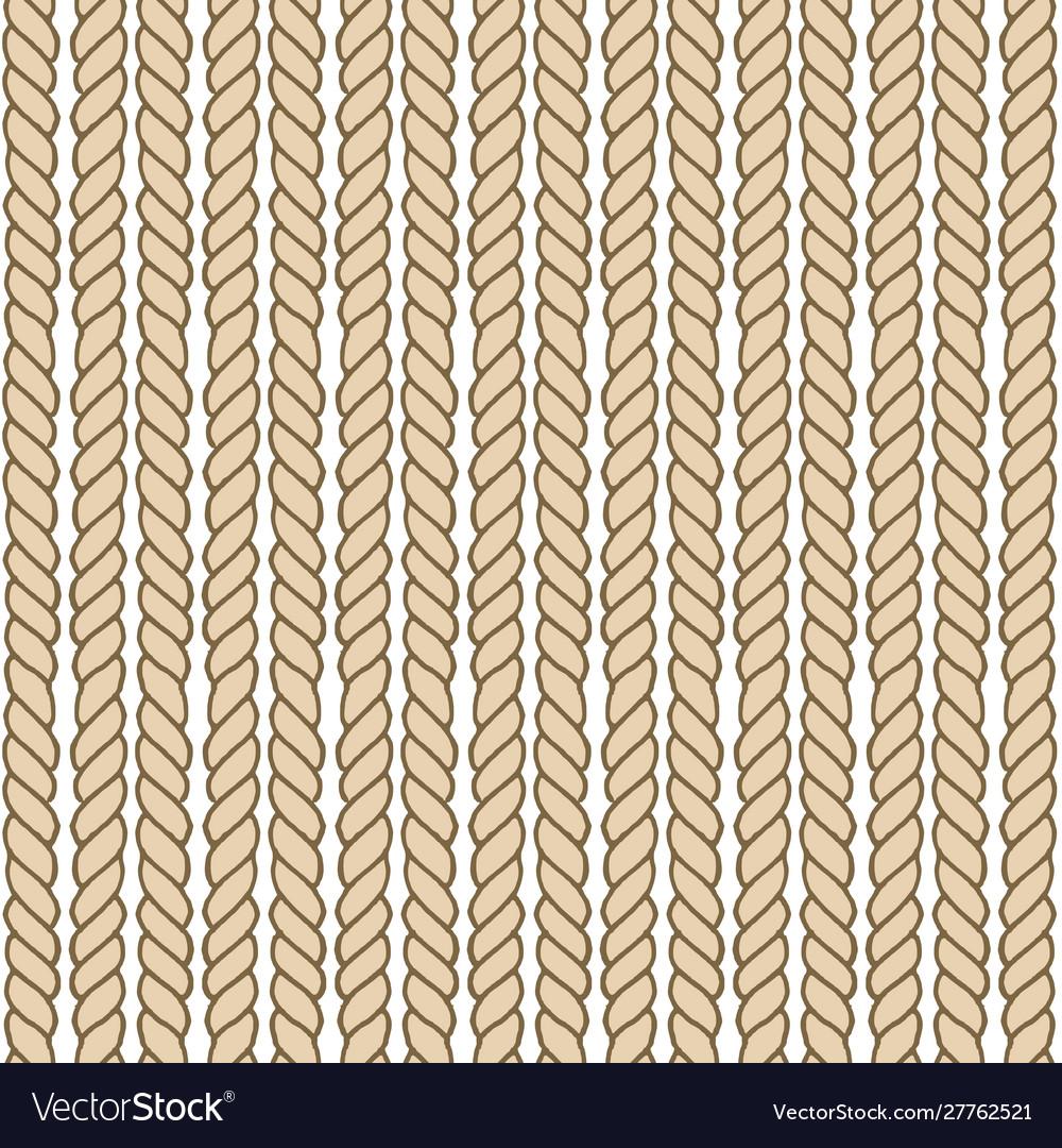 Endless nautical rope pattern hand drawn