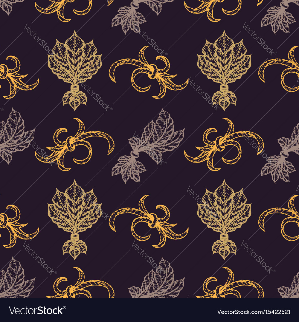 Engraving vintage seamless pattern