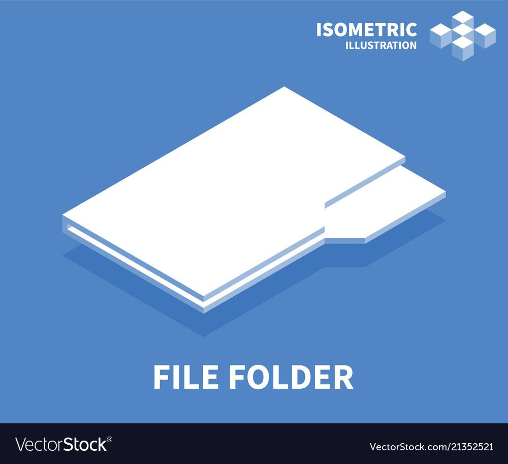File folder icon isometric template royalty free vector file folder icon isometric template vector image maxwellsz