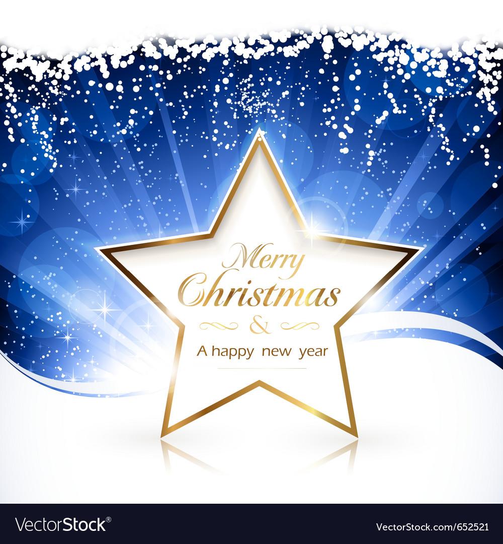 Golden christmas star background