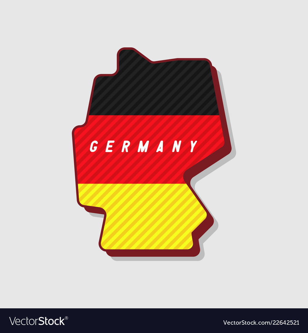 Map Of Germany 3d.Map Of Germany Modern 3d Style Royalty Free Vector Image