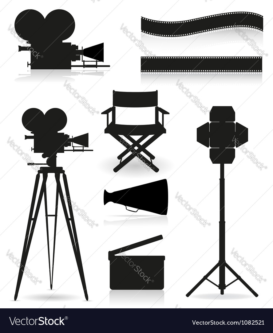 Set icons cinema 05 vector image