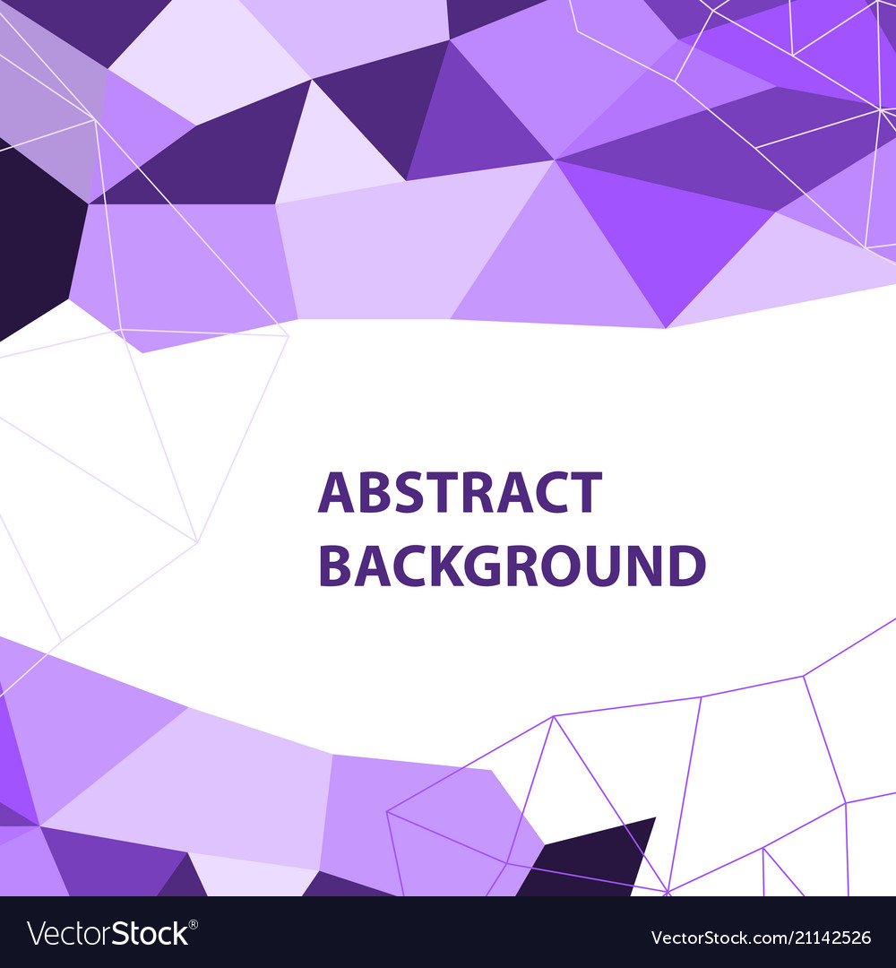 Abstract Purple Geometric Background With Polygon