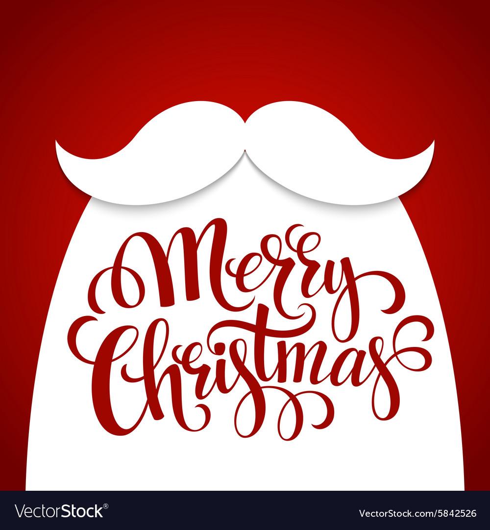 Christmas Typographic Background Santa Beard