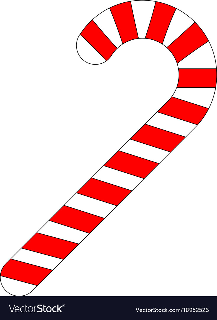 Colorful candy cane icon vector image