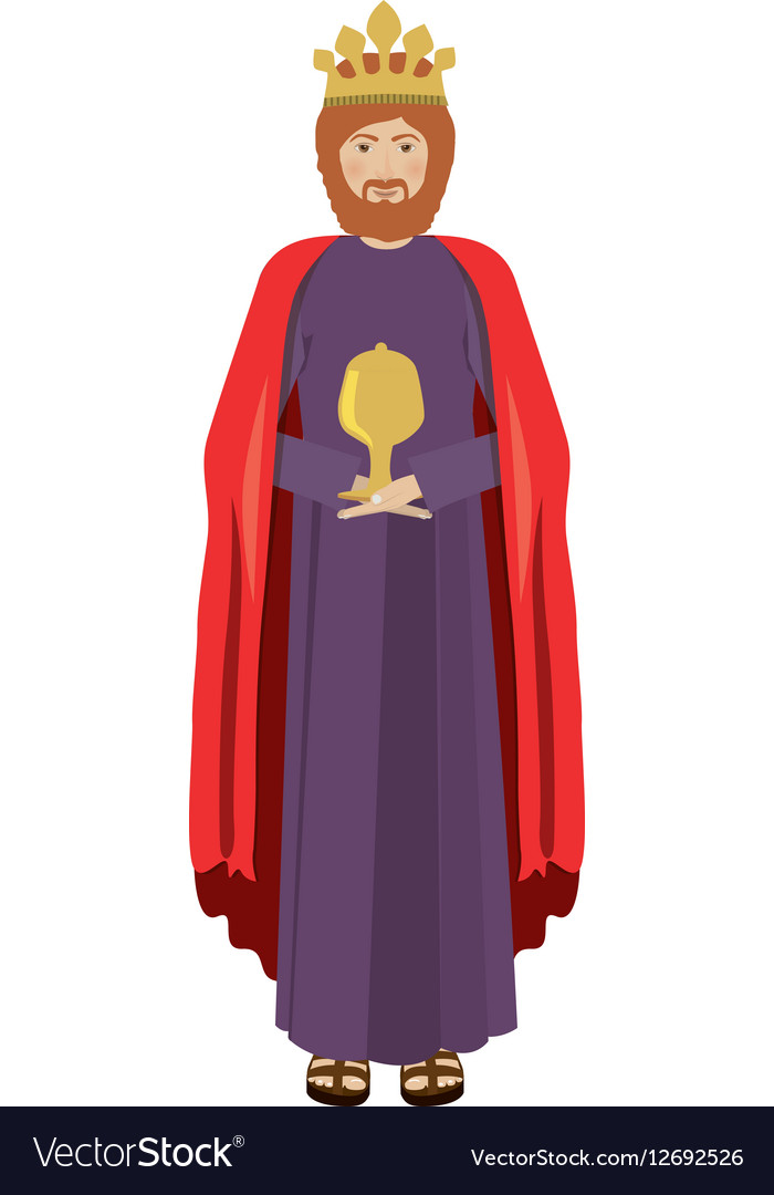 Colorful figure human a wise man baltasar vector image