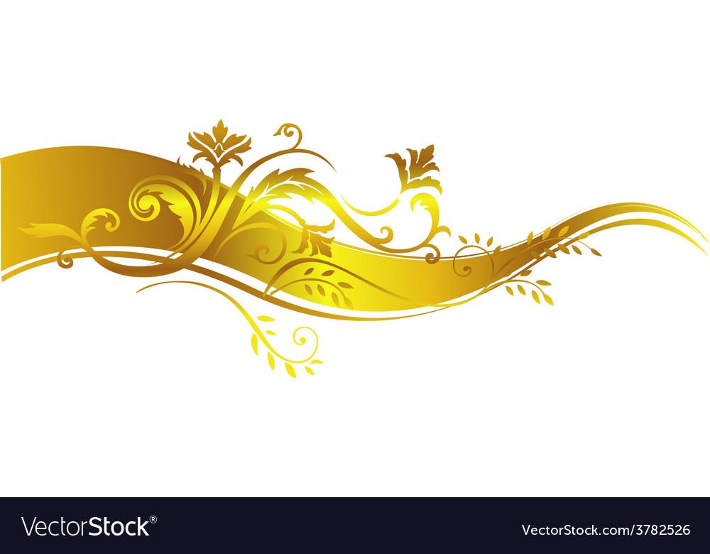 Golden luxury design element
