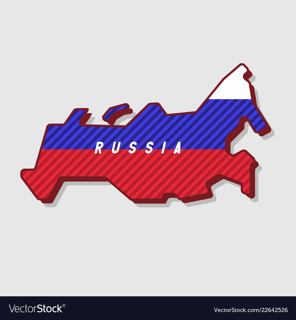 Map of russia modern 3d style