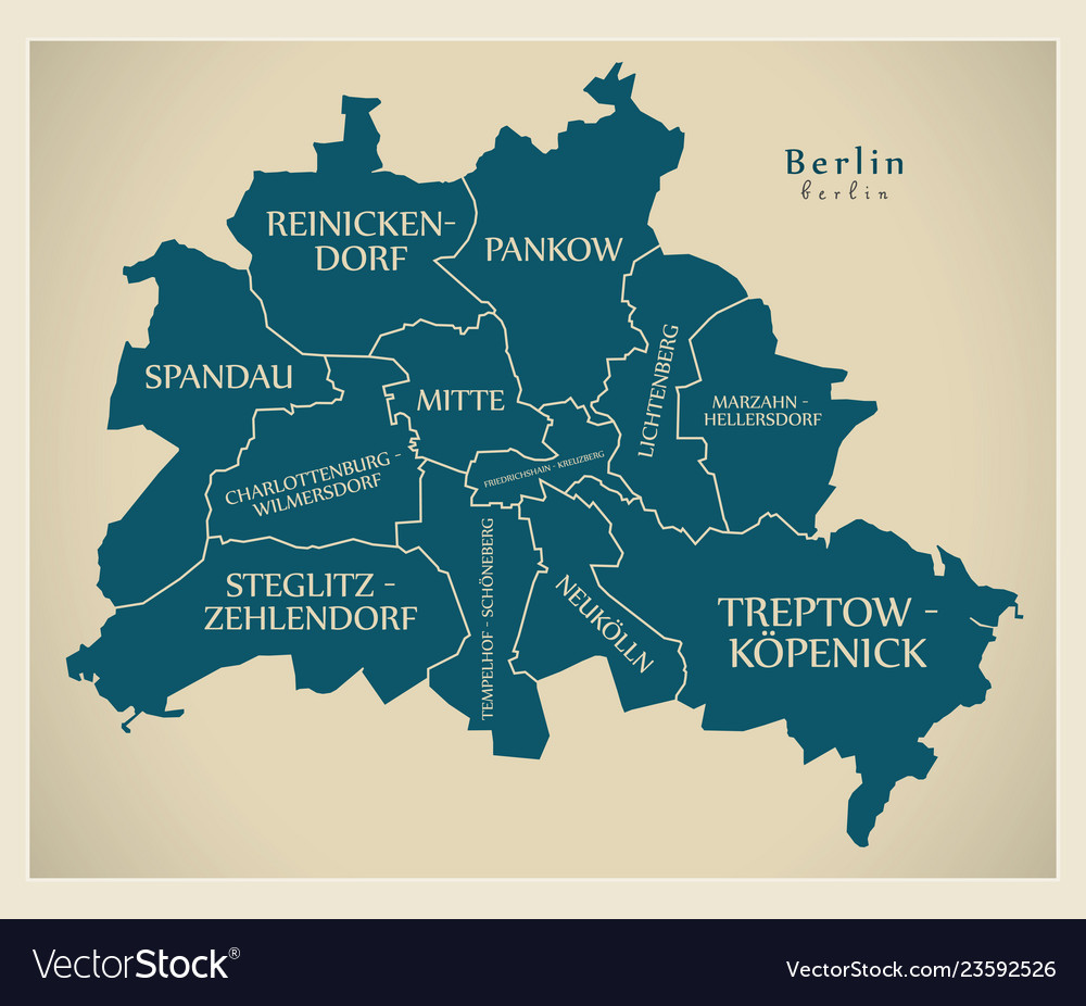 Germany Map Berlin.Modern City Map Berlin City Of Germany With Vector Image