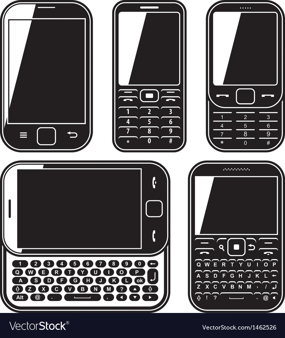 Modern mobile phone set With Q...