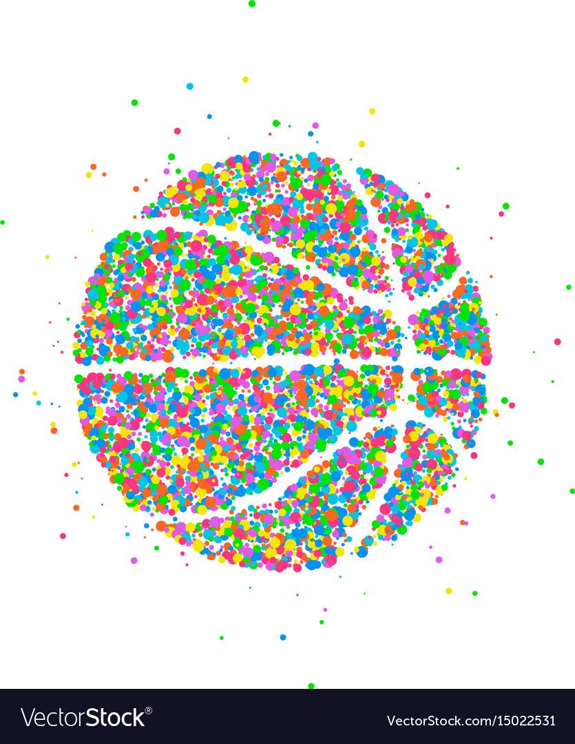 Abstract basketball icon vector image
