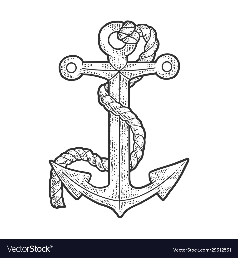 Anchor and rope sketch