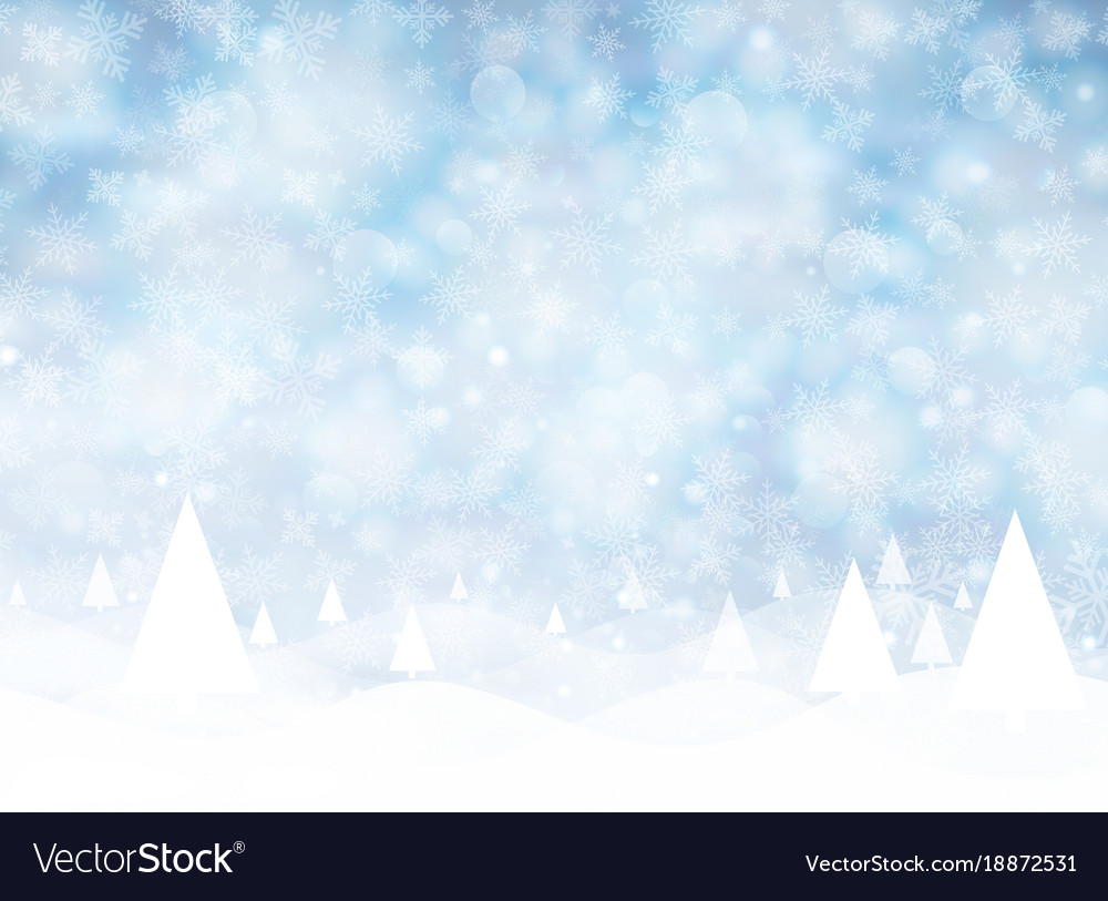 White Christmas Snow Background.Christmas Winter On Blue Background White Snow