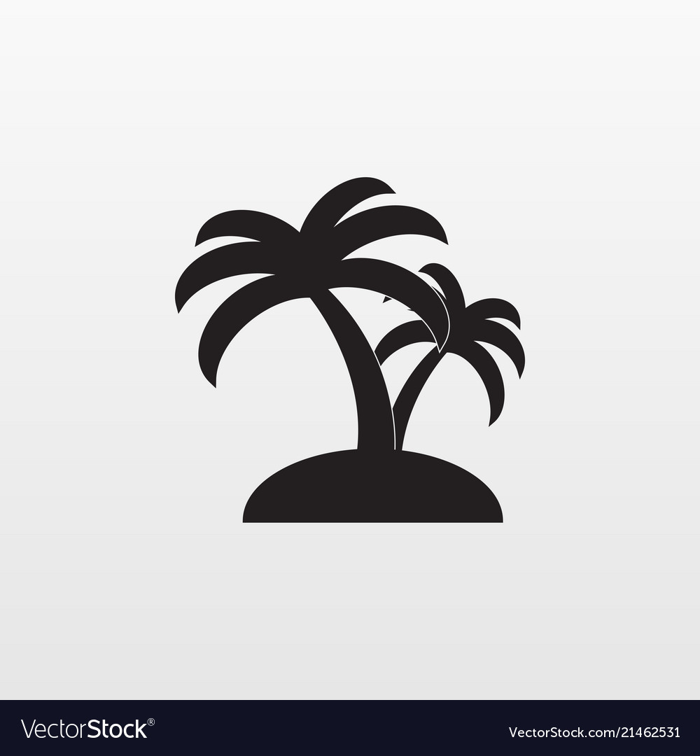 Gray palm icon isolated on background modern flat