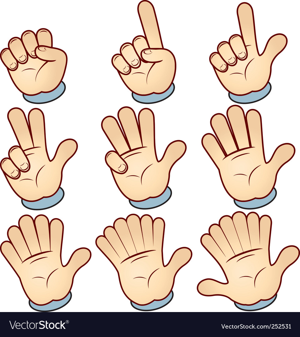 Hand count vector image