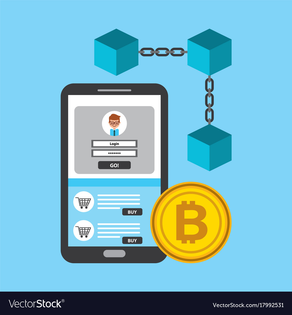 Mobile phone blockchain bitcoin access digital