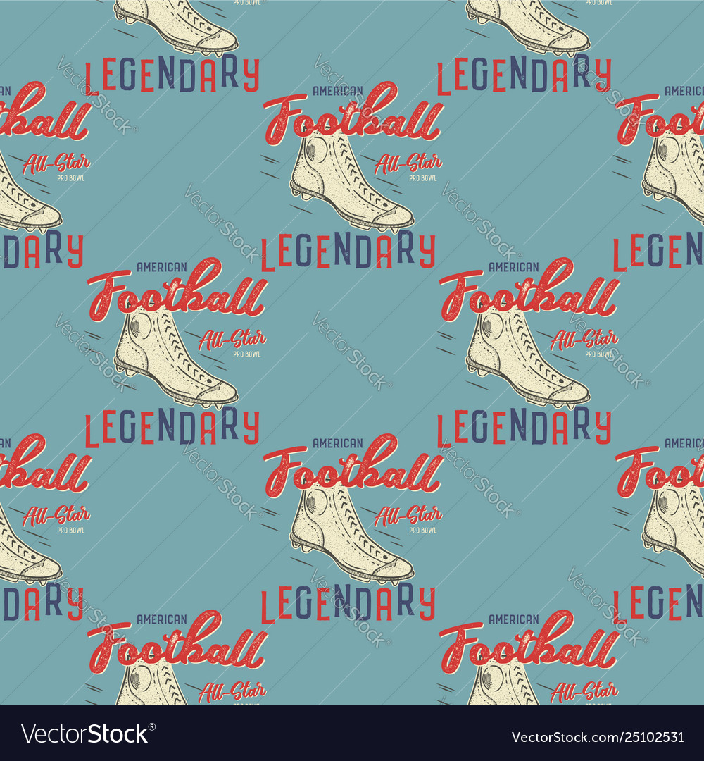 Retro american footnall pattern college rugby