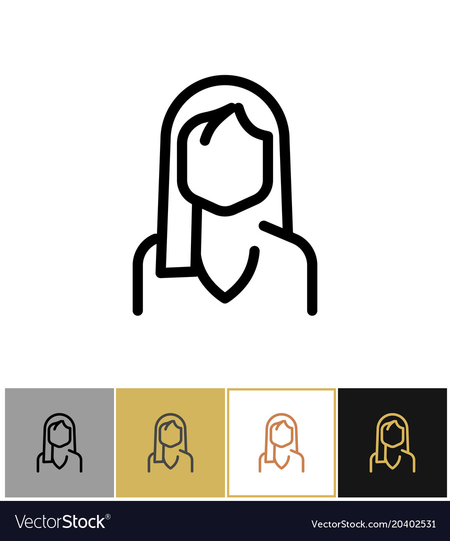 Woman icon black office admin sign or consultant vector image