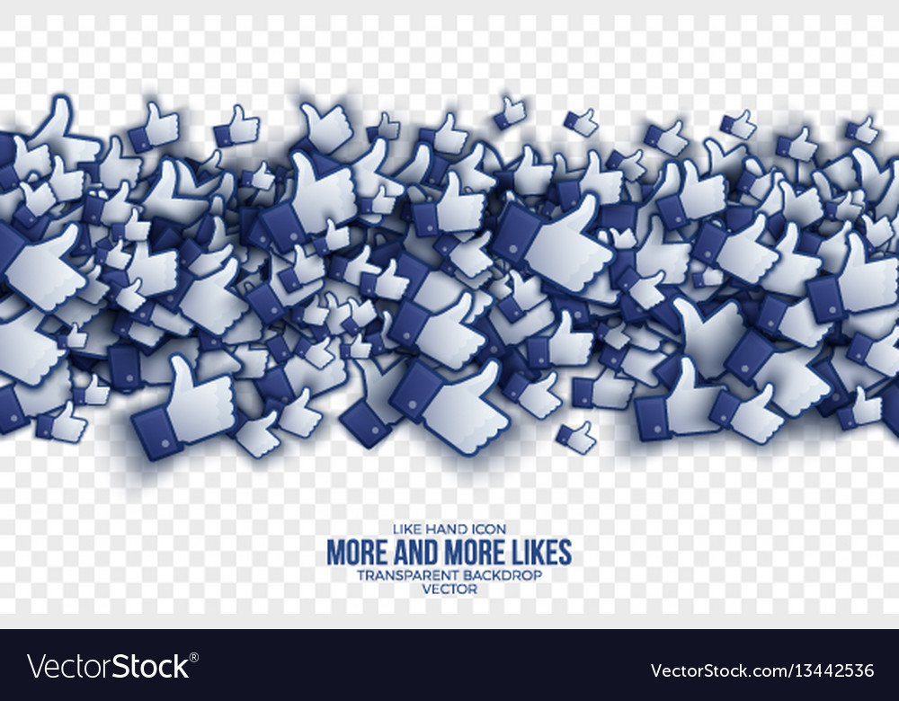 3d like hand icons abstract background