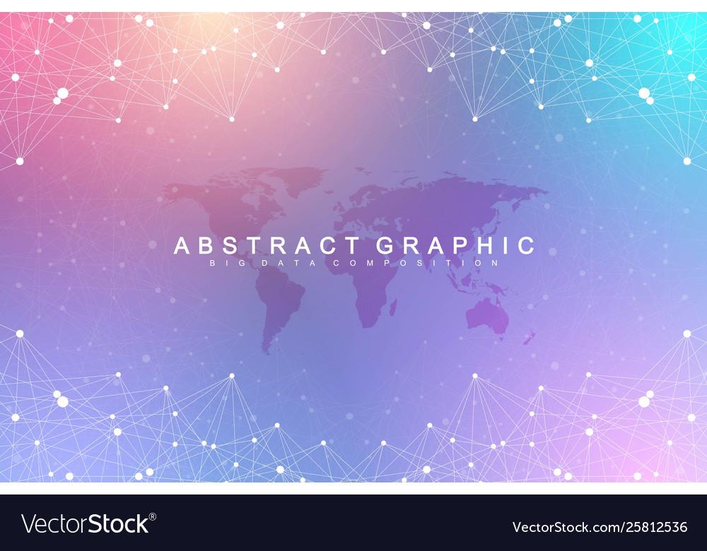 Big data visualization geometric graphic