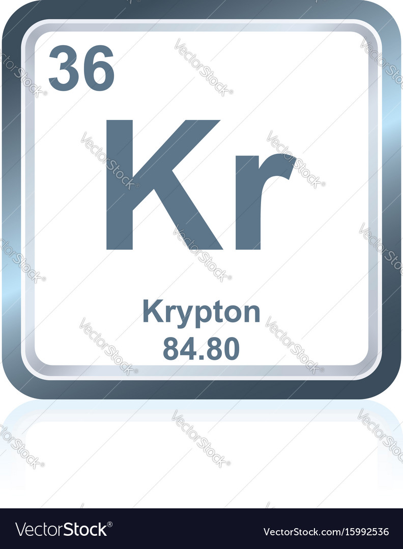 Chemical element krypton from the periodic table vector image urtaz