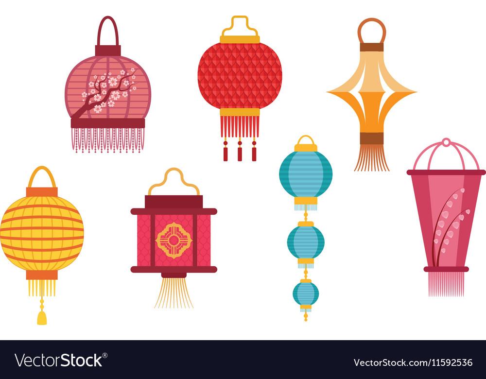 Chinese Lanterns Royalty Free Vector Image Vectorstock
