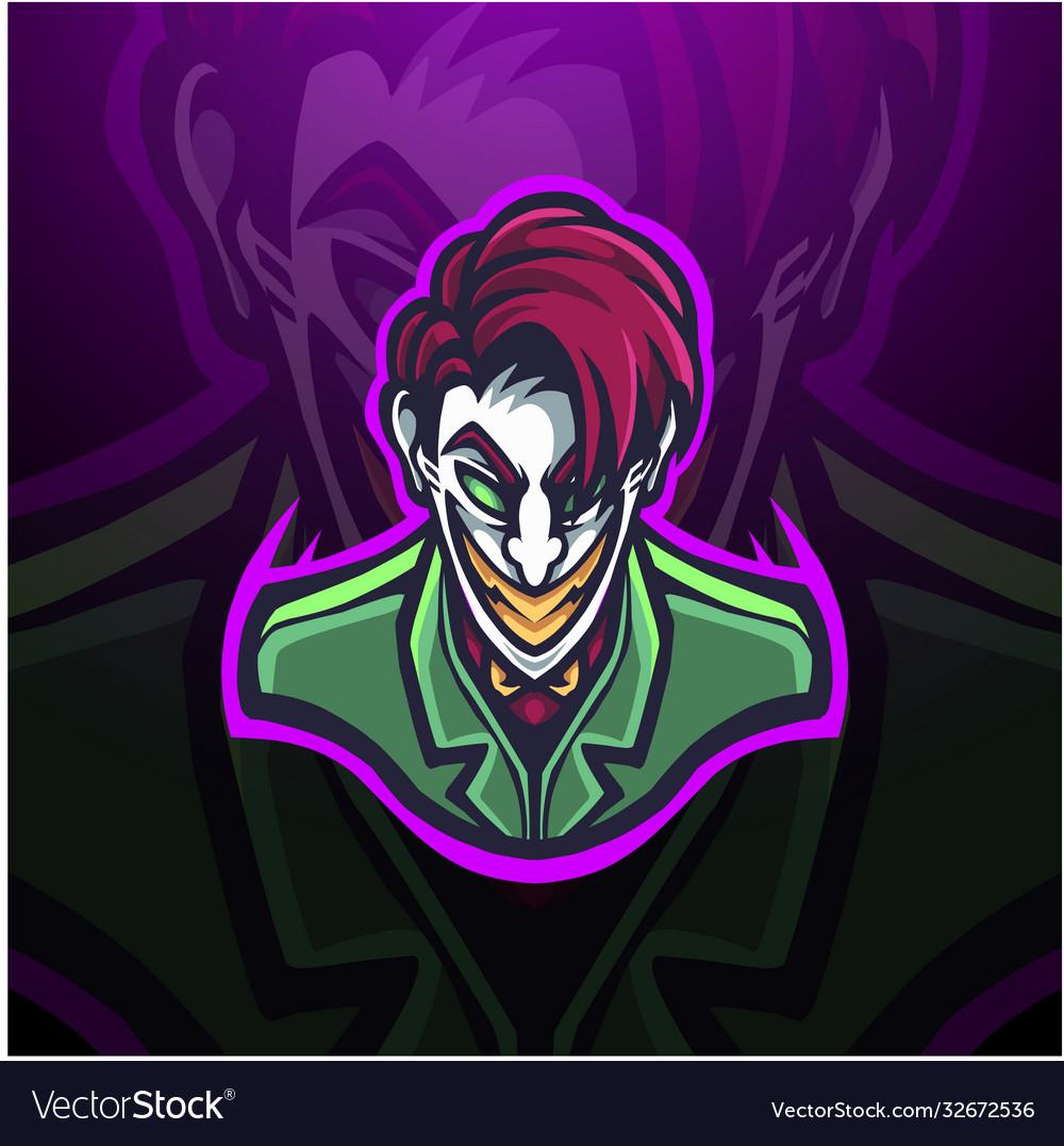 Clown esport mascot logo design