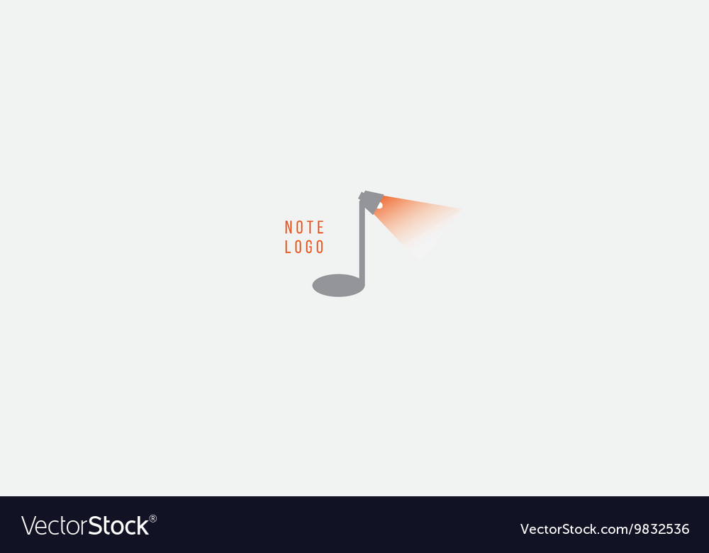 Creative musical note logo