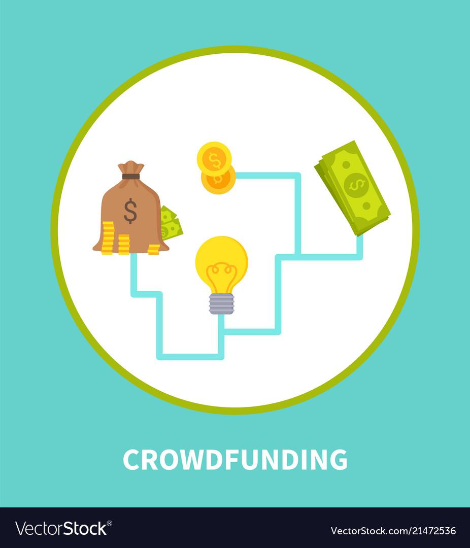Crowdfunding scheme colorful