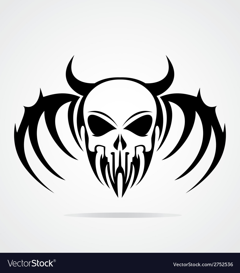 Demon Skulls Tribal vector image