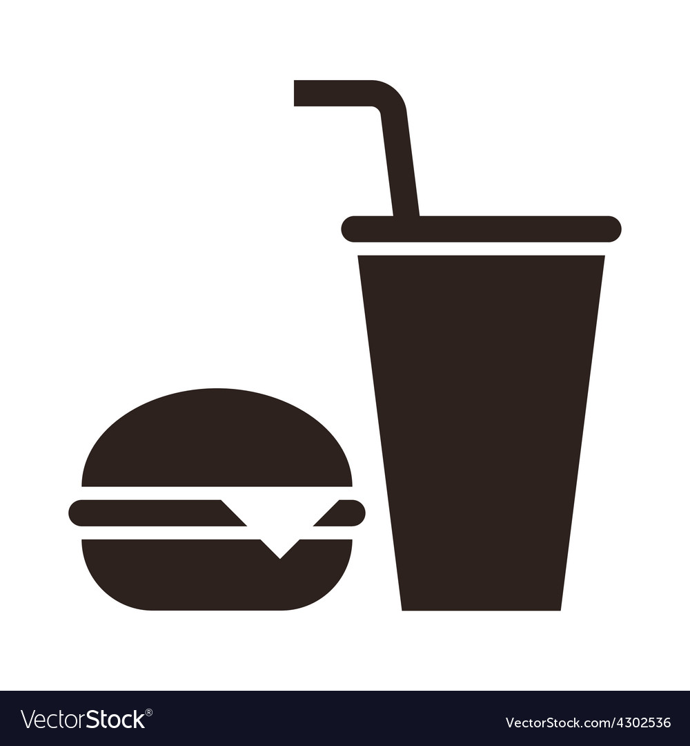 Fast food Hamburger and drink icon