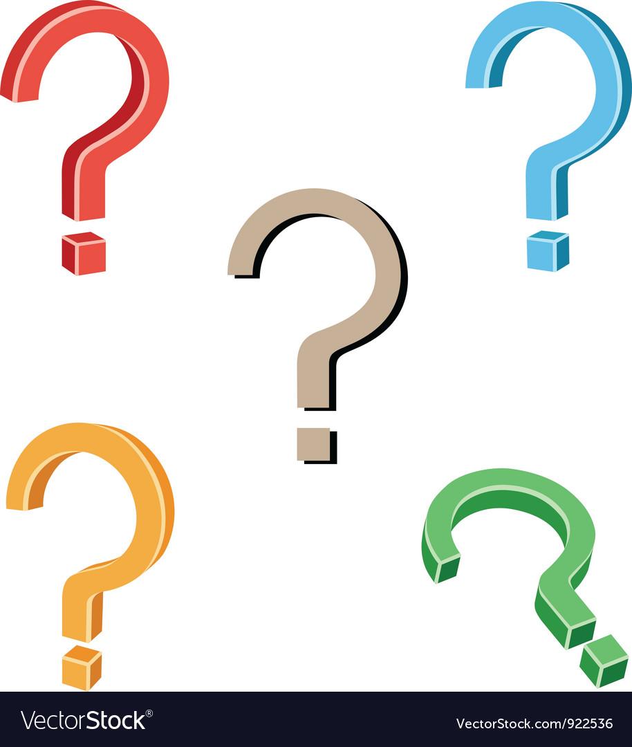 Question symbol vector image