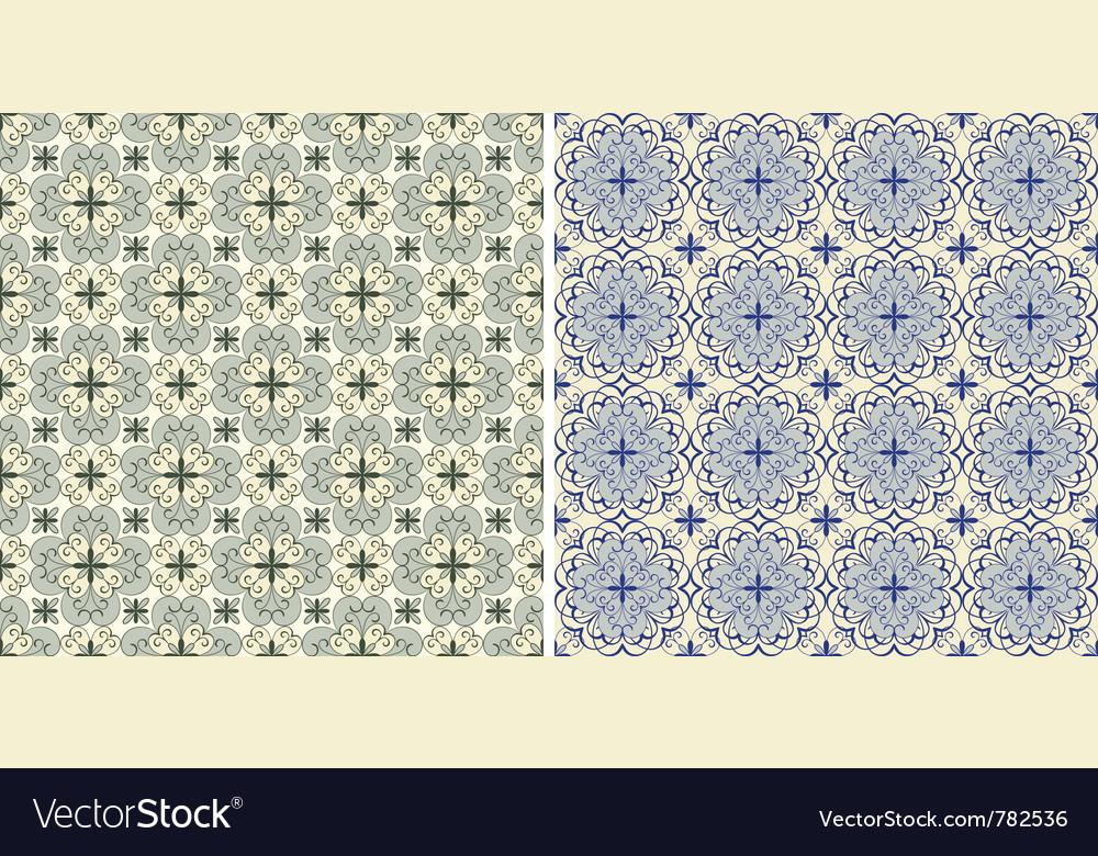 Seamless floral spring patterns