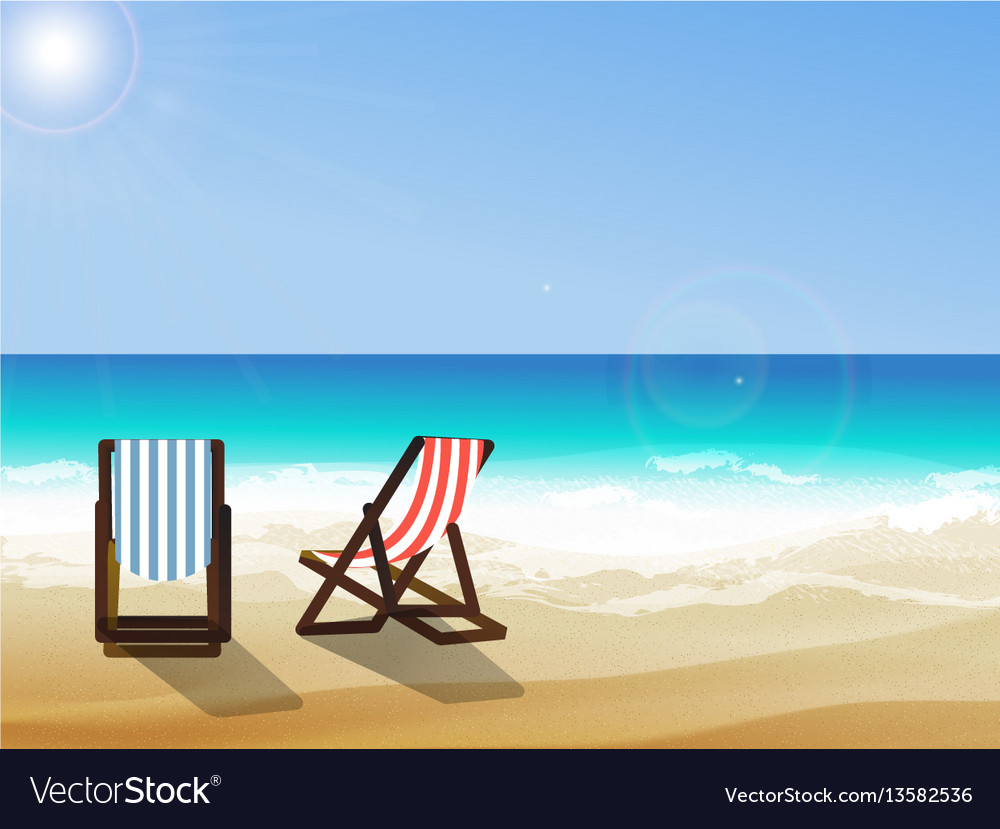 Summer seaside view vector image