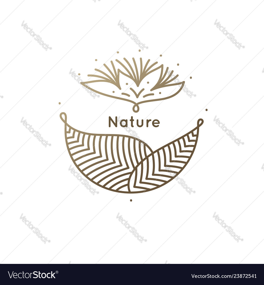 Abstract floral frame logo