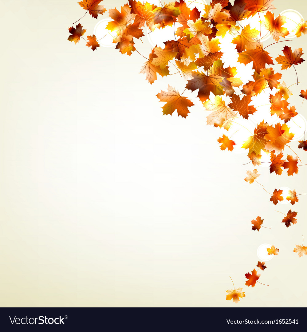 autumn falling leaves eps 10 royalty free vector image
