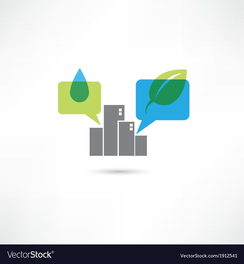Big eco city vector image