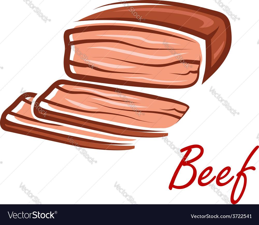 cartoon roast beef in retro style royalty free vector image vectorstock