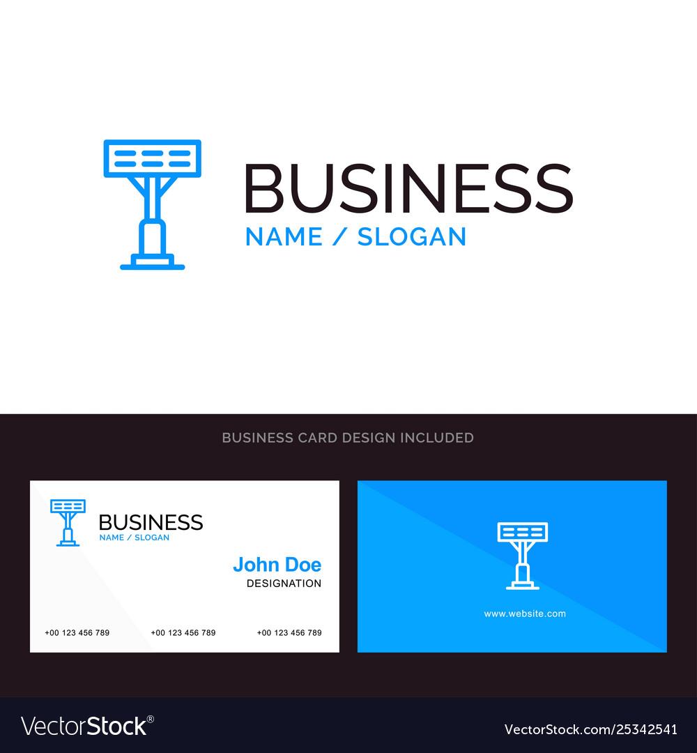Construction light stadium blue business logo and
