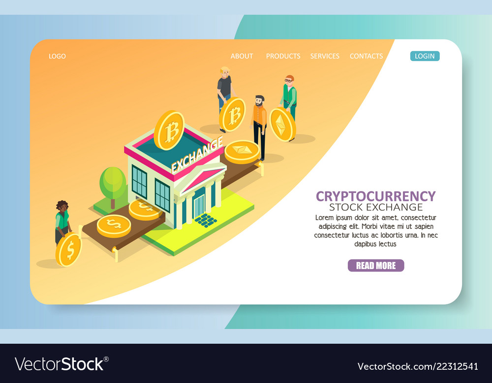 Cryptocurrency stock exchange landing page website