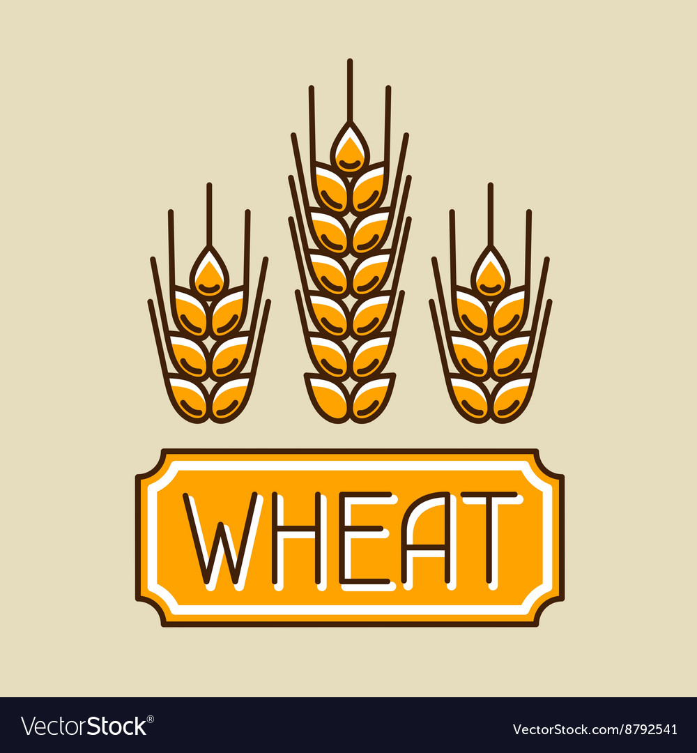 Emblem with wheat Agricultural image natural